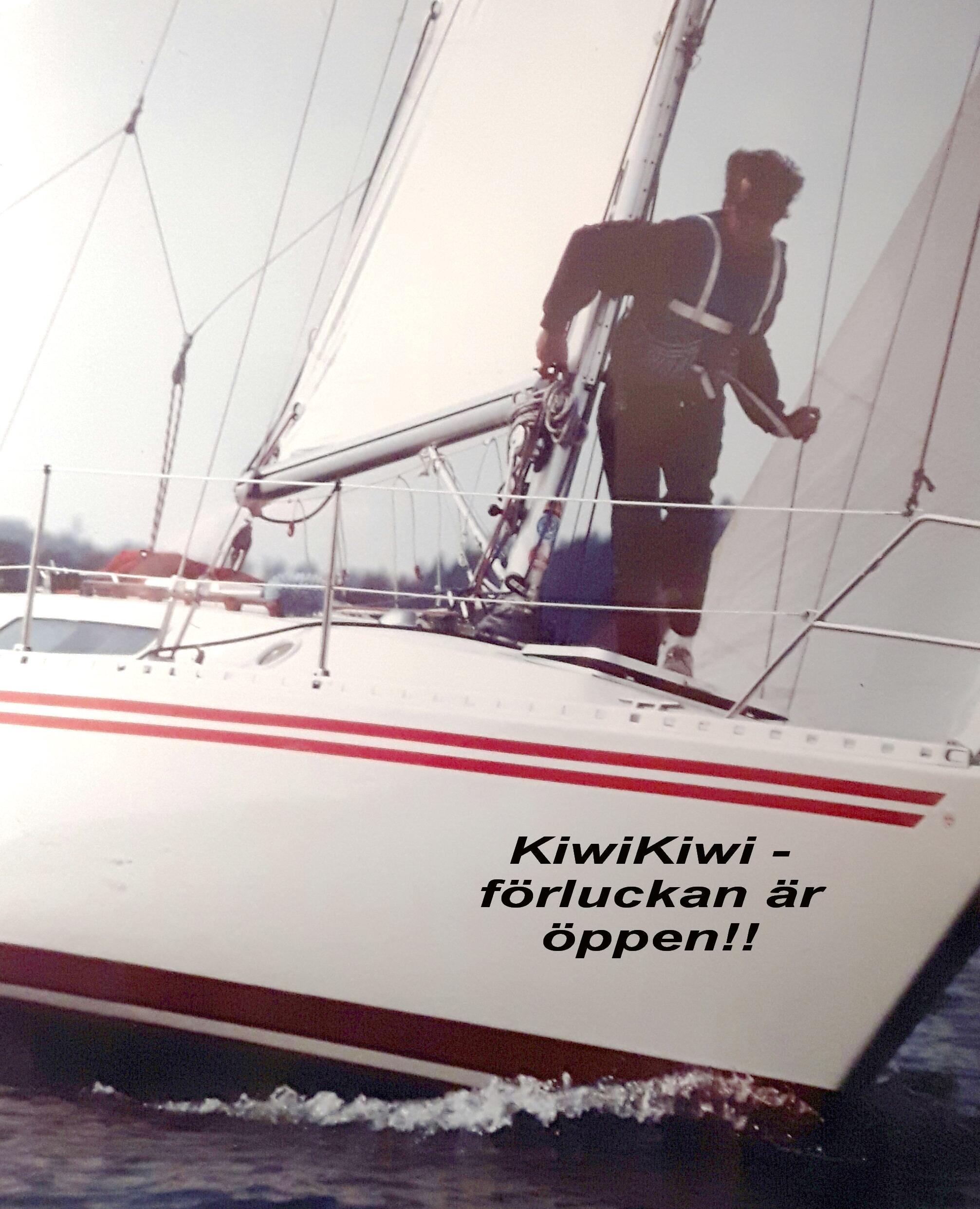 KiwiKiwi - förluckan är öppen - med text